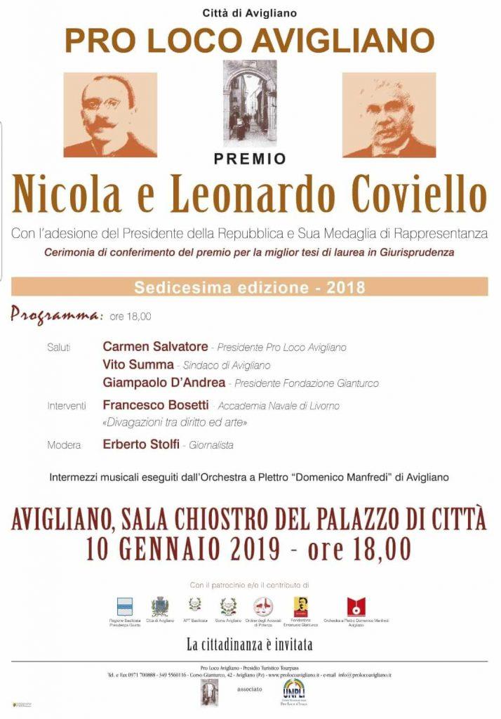 Premio Coviello 2018